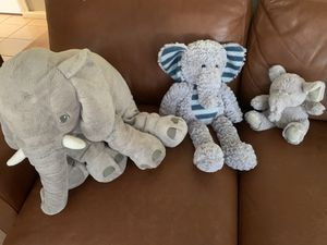 Elephant stuffed animals for Sale in La Mesa, CA