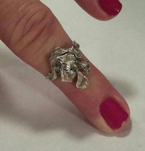 Flower Design Ring in Sterling Silver for Sale in Lawrenceville, GA