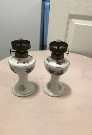 Floral mini kerosene lamps for Sale in Lakewood, CO