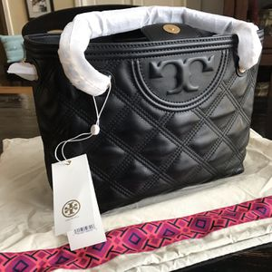 Tory Burch Black Fleming Tote With Tags for Sale in Kennesaw, GA