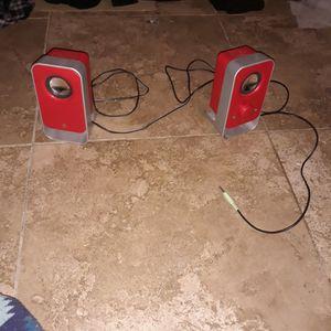 Logitech red speaker stereo system for Sale in Florence, AZ