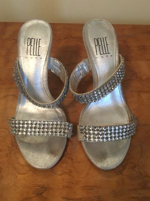 Size 4.5 silver sandals for Sale in Framingham, MA
