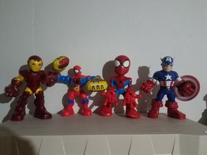 4pc set Marvel Ironman Spiderman & Captain America for Sale in Shorewood, IL