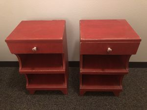 Rustic Red Boho End Tables for Sale in Portland, OR