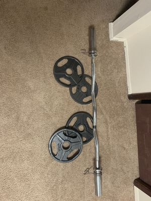Curl Bar and Weights for Sale in Federal Way, WA