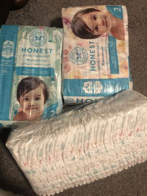 Size 2 diapers (the honest company & huggies) for Sale in National City, CA