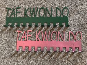 Metal taekwondo clothes hanger $15 set or $10 individually for Sale in Joliet, IL