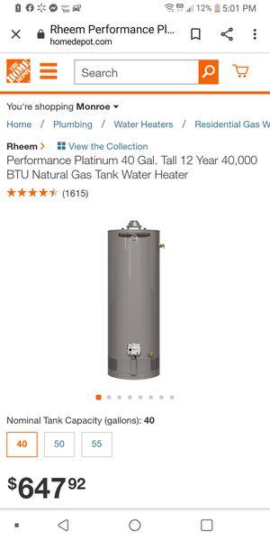 Rhemm gas hot water heater for Sale in Downsville, LA