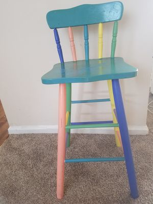 Bar stool/ high chair for Sale in Raleigh, NC