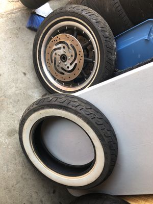 Harley Davidson wheels tires rims great condition original for Sale in Durham, NC