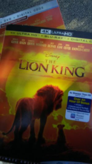 Lion king 2019 4k for Sale in Chino, CA