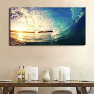 NEW 20x40 Canvas Ocean Rolling Wave Sunset Tropical Wall Art Family Room Bedroom Office Home Decor for Sale in San Marcos, CA