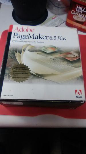 Adobe PageMaker 6.5 Plus for Mac for Sale in Tulsa, OK