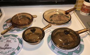 Pyrex Visions Corning Amber 7 piece set for Sale in Lancaster, PA