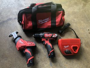 Milwaukee m12 drill and hacksaw for Sale in Pasadena, TX