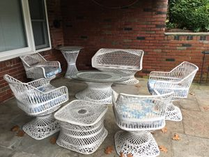 14 piece Unique Metal outdoor furniture for Sale in Eastchester, NY