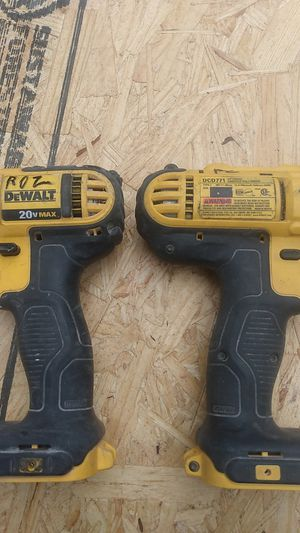 DeWalt 20 volt cordless impact drill and regular drill for Sale in Philadelphia, PA
