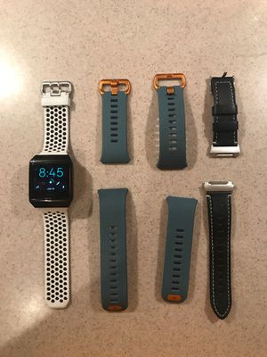 Used Fitbit Ionic comes with charger and three bands. for Sale in Haines City, FL