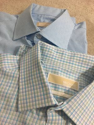 2 x Michael Kors' dress shirts - size L and M for Sale in Chicago, IL