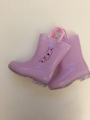Brand new with tag baby girl toddler pink lady bug koala kids rain shoes rain boots size 6 for Sale in Nashville, TN