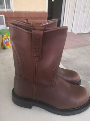 Brand new red wings pecos steel toe work boots size 5.5 for Sale in Riverside, CA