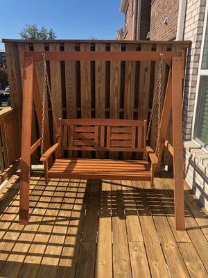 Hardwood Hanging Porch Swing for Sale in Duluth, GA