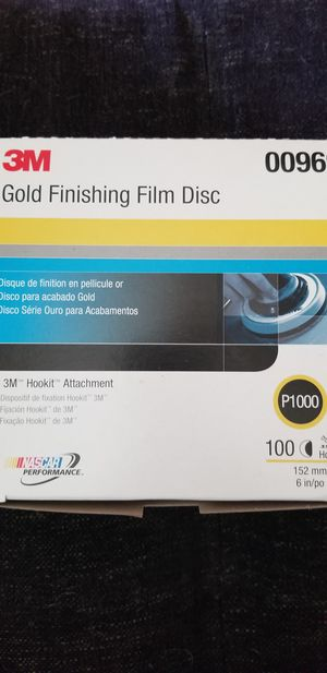 3m p1000 gold finishing film disc 00969 sand paper for Sale in Kapolei, HI