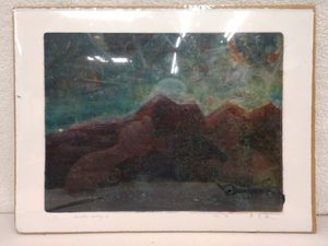 One of a Kind Artist Signed Art on Handmade Paper 1996 for Sale in Tacoma, WA