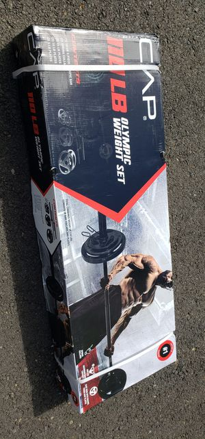 Olympic weights 110lb set Olympic bar included. for Sale in Portland, OR