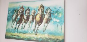 """HORSE TRACK CANVAS 24"""" × 36"""" for Sale in Los Angeles, CA"""