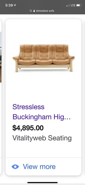 Stressless sofa for Sale in Glendale, CA