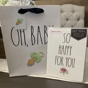 Rae Dunn Babyshower Gift Bag and Carr for Sale in Chino, CA