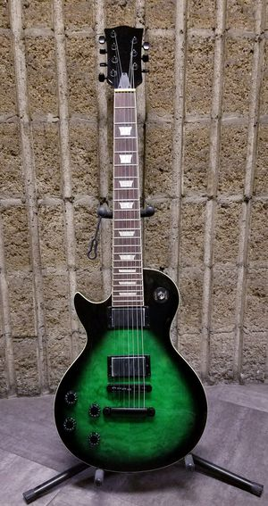 NEW! 7 String - Gibson Style - Les Paul Shape - Left Handed - Electric Guitar - Green Dragon for Sale in Los Angeles, CA
