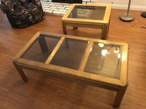 Glass coffee table and glass side table for Sale in Anaheim, CA