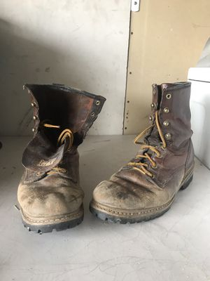 Carolina Men's Logger Boots - Round Toe size 10.5 for Sale in San Diego, CA
