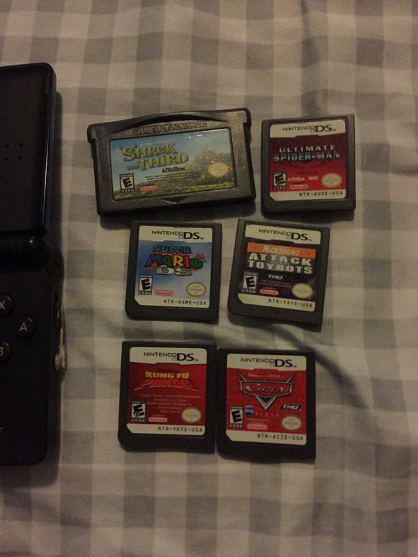 Nintendo DS Lite with 6 games