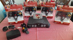 Nintendo 64 w Mario party game 4 .new controllers and cables for Sale in National City, CA