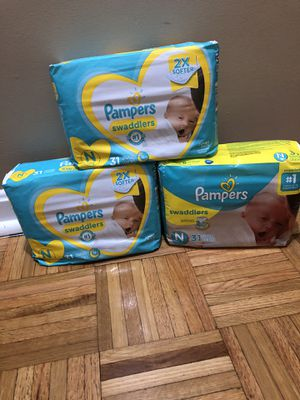 93 Newborn Size Diapers for $20 for Sale in Providence, RI