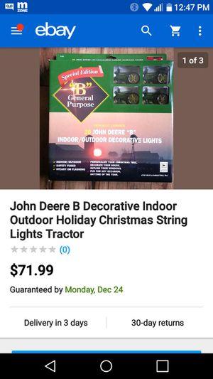 "John Deere MODEL ""A"" tractor Christmas lights for Sale in Joliet, IL"