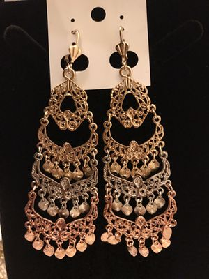 Gold plated earrings for Sale in Las Vegas, NV