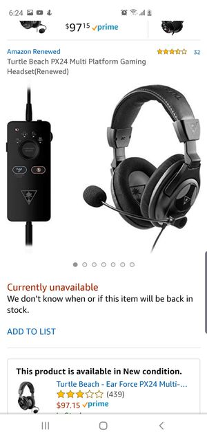 Px24 Turtle Beach Amplied Gaming Headset for Sale in Shelby, NC