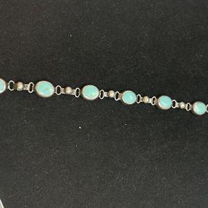 Silver Bracelet w/ 7 Turquoise Stones for Sale in Phoenix, AZ