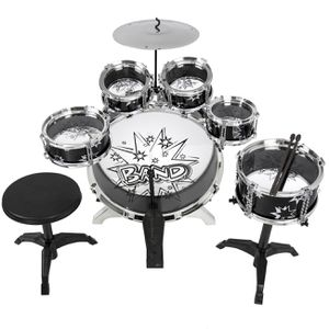 11 piece kids started drum set w/ bass drum, Tom drums, snare, cymbal, stool, drum sticks for Sale in Columbus, OH
