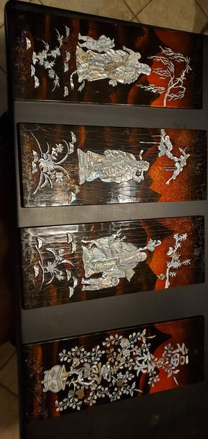 Shell inlaid wood tiles for Sale in Shoreline, WA