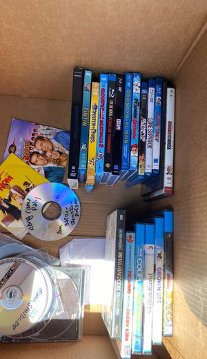Box of blue ray and dvds. for Sale in La Mesa, CA