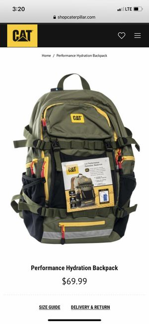 caterpillar performance hydration backpack! for Sale in Claremont, CA