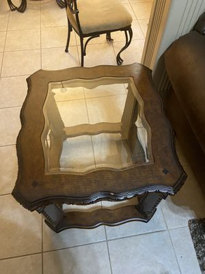 Glass and Wooden stool for Sale in Sugar Land, TX