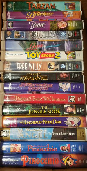 15 VHS Tapes $3 per VHS tape or buy all for $2 a tape total $30 for Sale in Parma, OH