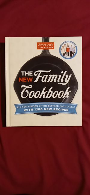 Americas Test Kitchens The New Family Cookbook for Sale in San Antonio, TX