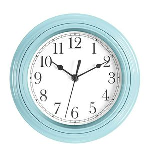 "Wall Clock Blue/Black/White 9"" inches for Sale in Covina, CA"